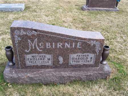 MCBIRNIE, HAROLD R. - Boone County, Iowa   HAROLD R. MCBIRNIE