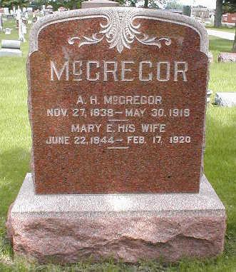 MCGREGOR, MARY E. - Boone County, Iowa | MARY E. MCGREGOR