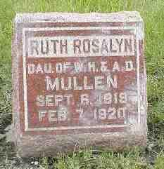 MULLEN, RUTH ROSALYN - Boone County, Iowa | RUTH ROSALYN MULLEN