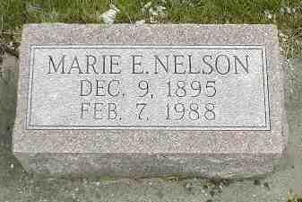 NELSON, MARIE E. - Boone County, Iowa | MARIE E. NELSON
