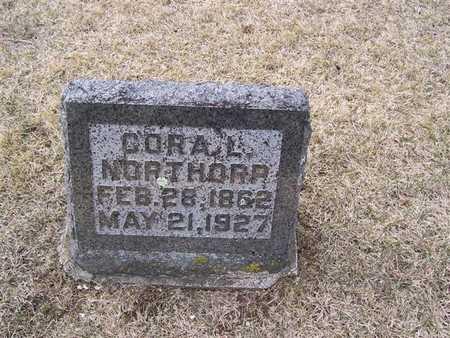 NORTHORP, CORA L. - Boone County, Iowa   CORA L. NORTHORP