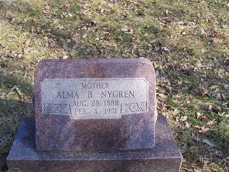 NYGREN, ALMA B. - Boone County, Iowa   ALMA B. NYGREN