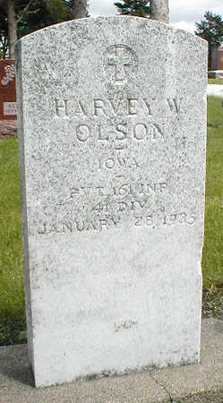 OLSON, HARVEY W. - Boone County, Iowa | HARVEY W. OLSON
