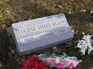 STILES OLSON, LUCILLE C - Boone County, Iowa   LUCILLE C STILES OLSON