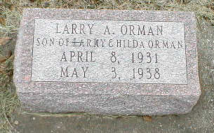 ORMAN, LARRY A. - Boone County, Iowa | LARRY A. ORMAN