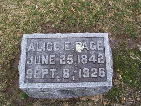 PAGE, ALICE E. - Boone County, Iowa   ALICE E. PAGE