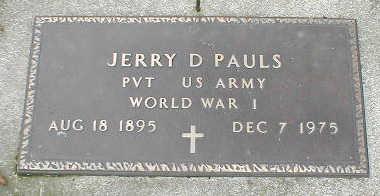 PAULS, JERRY D. - Boone County, Iowa | JERRY D. PAULS