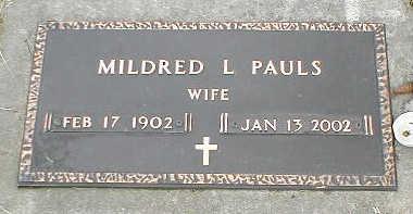PAULS, MILDRED L. - Boone County, Iowa | MILDRED L. PAULS