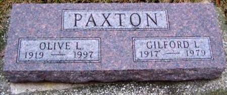 PAXTON, OLIVE L. - Boone County, Iowa | OLIVE L. PAXTON
