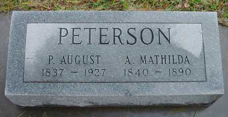 PETERSON, P. AUGUST - Boone County, Iowa | P. AUGUST PETERSON