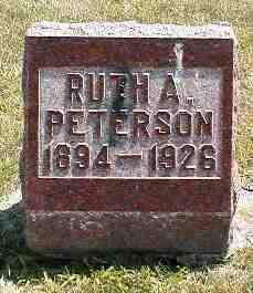 PETERSON, RUTH A. - Boone County, Iowa   RUTH A. PETERSON