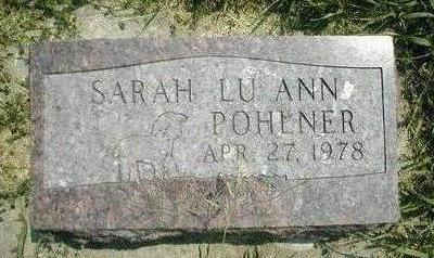 POHLNER, SARAH LU ANN - Boone County, Iowa | SARAH LU ANN POHLNER