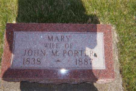 PORTER, MARY - Boone County, Iowa   MARY PORTER