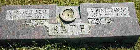 RATE, MARGARET IRENE - Boone County, Iowa | MARGARET IRENE RATE