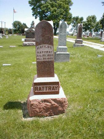 RATTRAY, MATILDA - Boone County, Iowa | MATILDA RATTRAY
