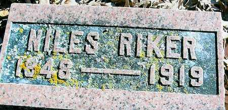 RIKER, NILES - Boone County, Iowa | NILES RIKER