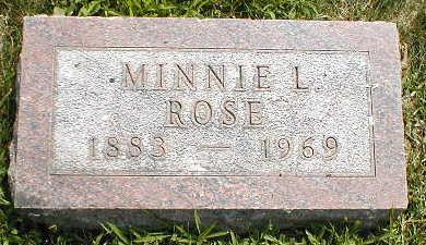 ROSE, MINNIE L. - Boone County, Iowa | MINNIE L. ROSE
