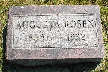 ROSEN, AUGUSTA - Boone County, Iowa   AUGUSTA ROSEN