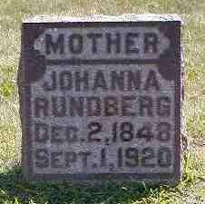 RUNDBERG, JOHANNA - Boone County, Iowa | JOHANNA RUNDBERG