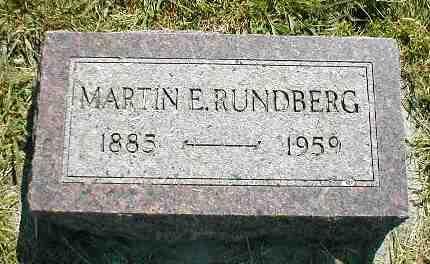 RUNDBERG, MARTIN E. - Boone County, Iowa | MARTIN E. RUNDBERG
