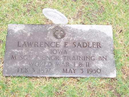 SADLER, LAWRENCE E.. - Boone County, Iowa | LAWRENCE E.. SADLER