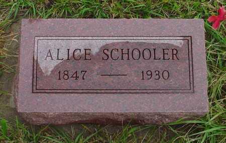 SCHOOLER, ALICE - Boone County, Iowa | ALICE SCHOOLER