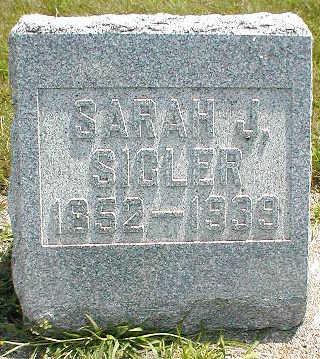 SIGLER, SARAH J. - Boone County, Iowa   SARAH J. SIGLER