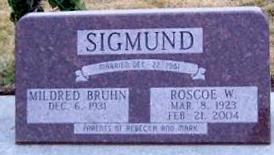 SIGMUND, MILDRED BRUHN - Boone County, Iowa | MILDRED BRUHN SIGMUND