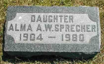 SPRECHER, ALMA A.W. - Boone County, Iowa | ALMA A.W. SPRECHER