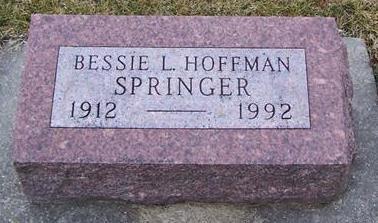 SPRINGER, BESSIE L. - Boone County, Iowa | BESSIE L. SPRINGER