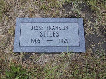 STILES, JESSE FRANKLIN - Boone County, Iowa | JESSE FRANKLIN STILES