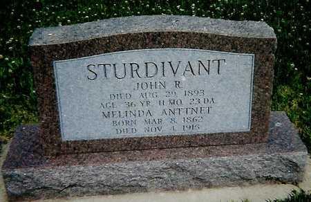 STURDIVANT, MELINDA ANTTNET - Boone County, Iowa   MELINDA ANTTNET STURDIVANT