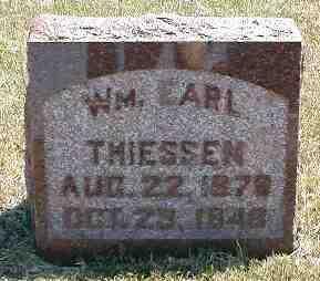 THEISSEN, WM. EARL - Boone County, Iowa   WM. EARL THEISSEN