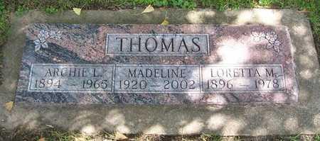 THOMAS, MADELINE - Boone County, Iowa | MADELINE THOMAS