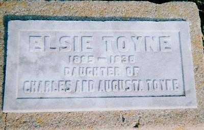 TOYNE, ELSIE - Boone County, Iowa | ELSIE TOYNE