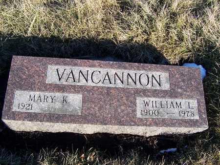 VANCANNON, WILLIAM L. - Boone County, Iowa | WILLIAM L. VANCANNON