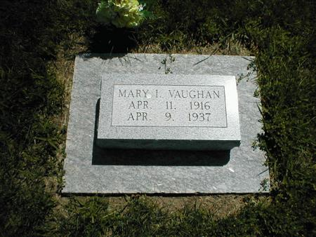 VAUGHAN, MARY I. - Boone County, Iowa | MARY I. VAUGHAN