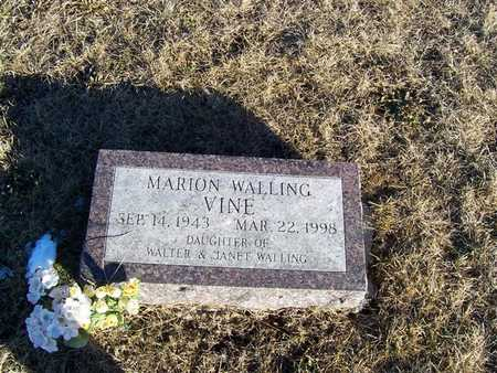 VINE, MARION WALLING - Boone County, Iowa | MARION WALLING VINE
