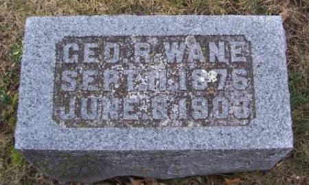 WANE, GEORGE R. - Boone County, Iowa   GEORGE R. WANE
