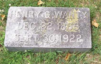 WANTY, HENRY G. - Boone County, Iowa | HENRY G. WANTY