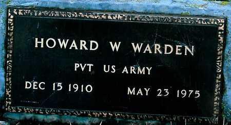 WARDEN, HOWARD W. - Boone County, Iowa   HOWARD W. WARDEN