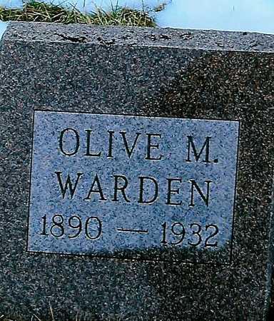 WARDEN, OLIVE M. - Boone County, Iowa | OLIVE M. WARDEN