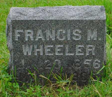 WHEELER, FRANCIS M. - Boone County, Iowa | FRANCIS M. WHEELER