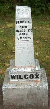 WILCOX, FLORA E. - Boone County, Iowa | FLORA E. WILCOX