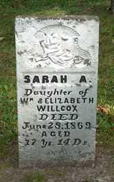 WILCOX, SARAH A. - Boone County, Iowa | SARAH A. WILCOX