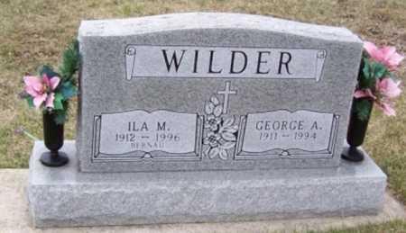 WILDER, ILA M - Boone County, Iowa   ILA M WILDER