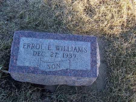 WILLIAMS, ERROL E. - Boone County, Iowa | ERROL E. WILLIAMS