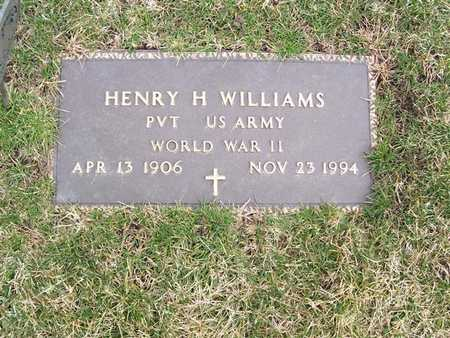 WILLIAMS, HENRY H. - Boone County, Iowa | HENRY H. WILLIAMS