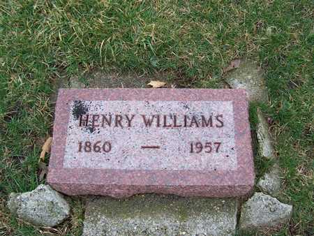 WILLIAMS, HENRY - Boone County, Iowa | HENRY WILLIAMS