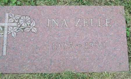 ZELLE, INA - Boone County, Iowa | INA ZELLE